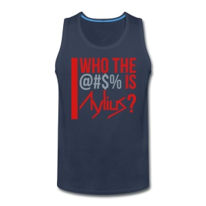 Men's Tank (Navy/Red/Silver) - Men's Premium Tank