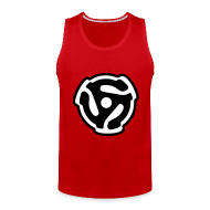 Sportswear ~ Men's Premium Tank ~ 45 rpm DJ Tank Top (Red)