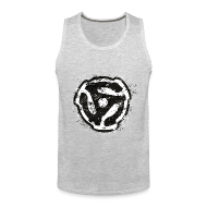 Sportswear ~ Men's Premium Tank ~ 45 rpm DJ Tank Top (Grey) Retro
