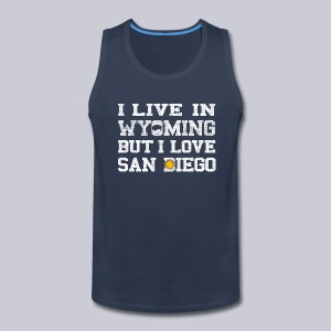 Live Wyoming Love San Diego - Men's Premium Tank