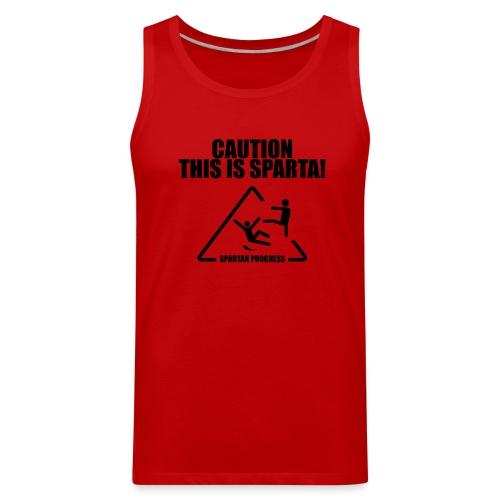 Caution Tank Top - Men's Premium Tank