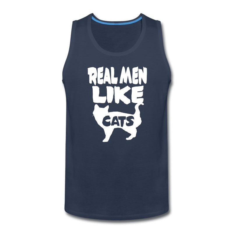 Real Men Like Cats - Men's Premium Tank