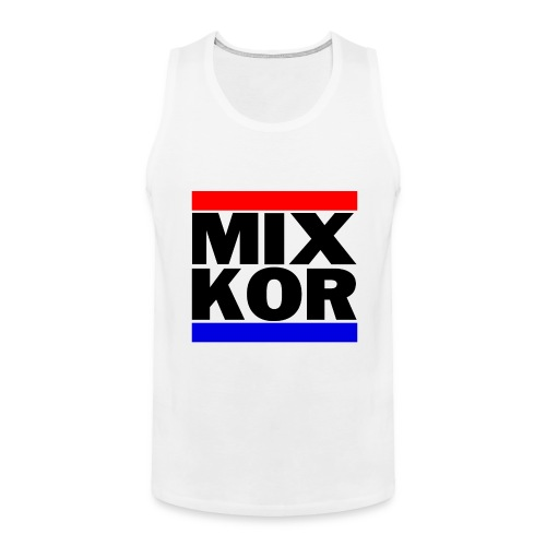 MIX KOR Mens Tank - White - Men's Premium Tank