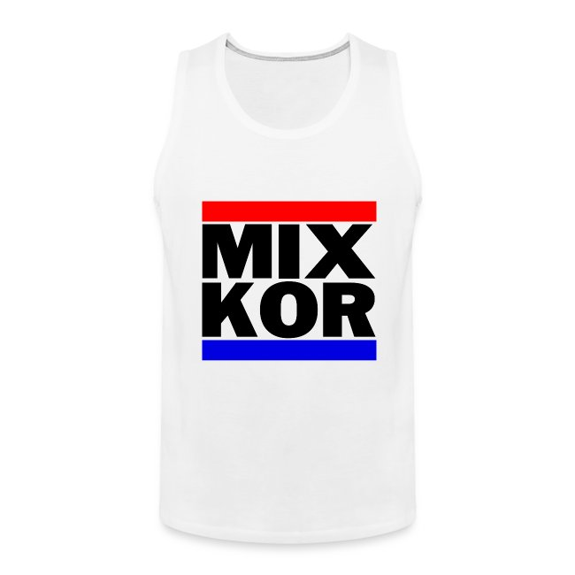 MIX KOR Mens Tank - White