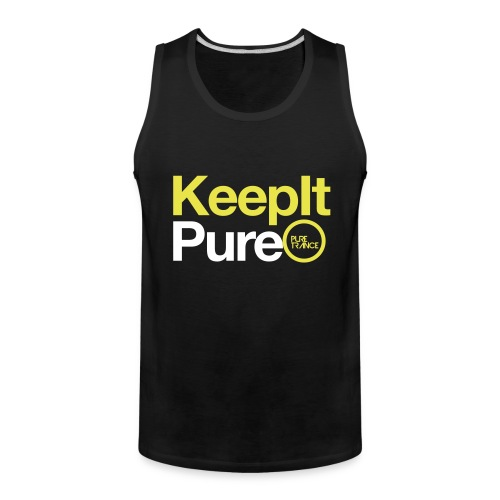 Keep It Pure (Yellow/ White) [Male] - Men's Premium Tank