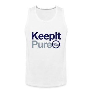 Keep It Pure (Silver Metallic / Navy Blue) [Male] - Men's Premium Tank
