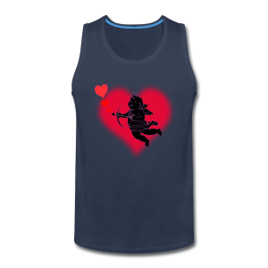 Valentine's Tank Top Cupid Love Men's Muscle Shirt - Men's Premium Tank