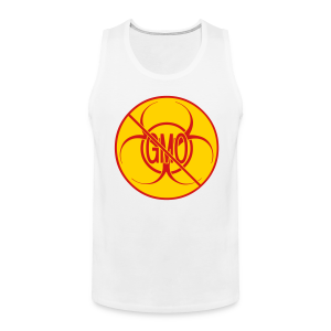 No GMO Tank Tops NO GMO Bio-hazard Muscle Shirts - Men's Premium Tank