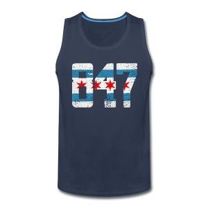 847 Chicago Flag - Men's Premium Tank