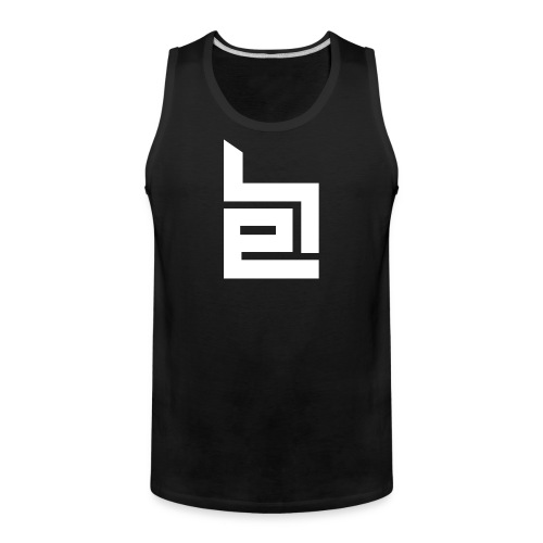 White Logo Tank Top - Men's Premium Tank