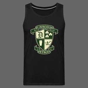 St. Patricks Day Detroit Irish Crest - Men's Premium Tank