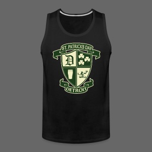 St. Patricks Day Detroit Irish Crest - Men's Premium Tank