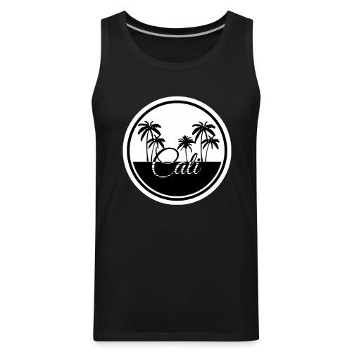 Cali Black & White  - Men's Premium Tank
