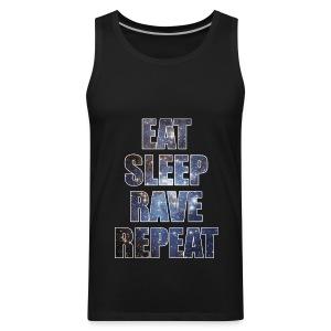 Eat Sleep Rave Repeat Stars Sleeveless Tank Top - Men's Premium Tank
