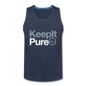 Keep It Pure (Silver Metallic / White) [Male] - Men's Premium Tank
