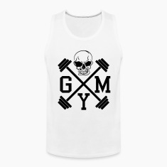 Gym Skull Dumbbell Barbell Weight Athletics 1c Tank Tops