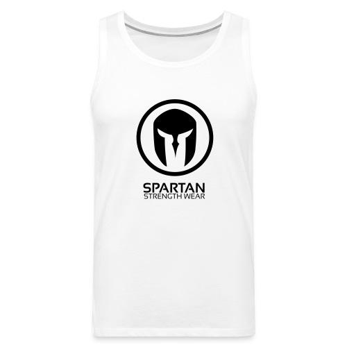 Spartan Logo Singlet (Black) - Men's Premium Tank