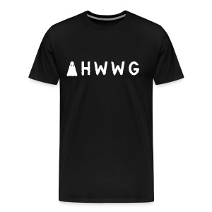 AHWWG White Logo Double Sided - Men's Premium T-Shirt