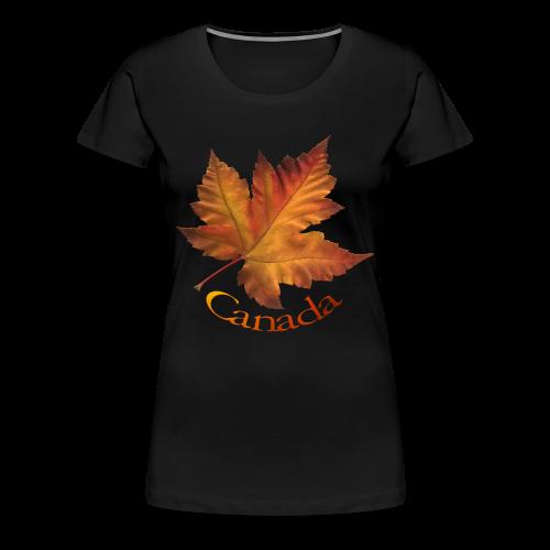 Women's Canada T-shirt Plus Size Maple Leaf Souvenir T-shirts - Women's Premium T-Shirt