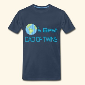 World's Best Dad Of Twins Mens T-shirt - Men's Premium T-Shirt