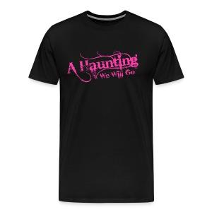 AHWWG Pink Logo Front  - Men's Premium T-Shirt