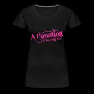 Women's T-Shirts ~ Women's Premium T-Shirt ~ AHWWG Pink Logo Front