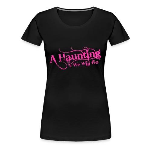 AHWWG Pink Logo Front  - Women's Premium T-Shirt