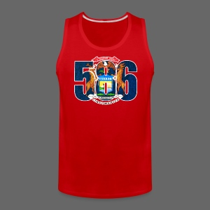 586 Michigan Flag - Men's Premium Tank
