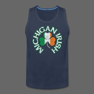 Michigan Irish Shamrock Flag - Men's Premium Tank