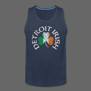 Detroit Irish Shamrock Flag - Men's Premium Tank