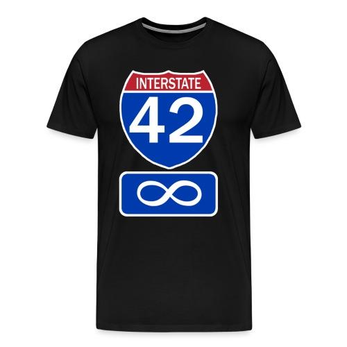 Interstate 42 - 3x-4x - Men's Premium T-Shirt