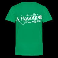 Kids' Shirts ~ Kids' Premium T-Shirt ~ AHWWG White Logo Kids Back Design