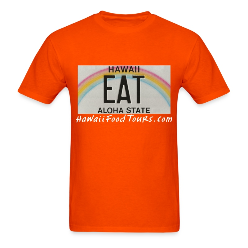 New_EAT_with_URL - Men's T-Shirt