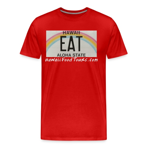 New_EAT_with_URL - Men's Premium T-Shirt
