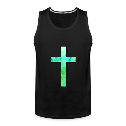 Galaxy Cross Green - Men's Premium Tank