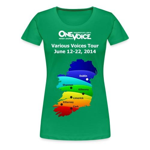 Women's Plus Size One Voice Ireland shirt - Women's Premium T-Shirt