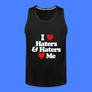 I Love Haters & Haters Love Me Tank Tops - Men's Premium Tank