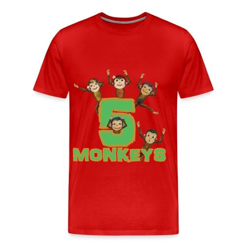 5 Monkeys for men - Men's Premium T-Shirt