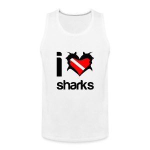 I Love Sharks T-Shirt - Men's Premium Tank