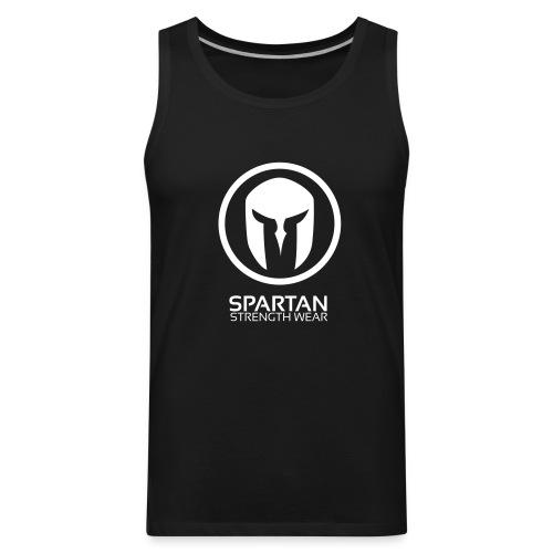 Spartan Logo Singlet (White) - Men's Premium Tank