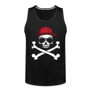 Skulls, Crossbones, Sunglasses, Skull and Crossbones - Men's Premium Tank