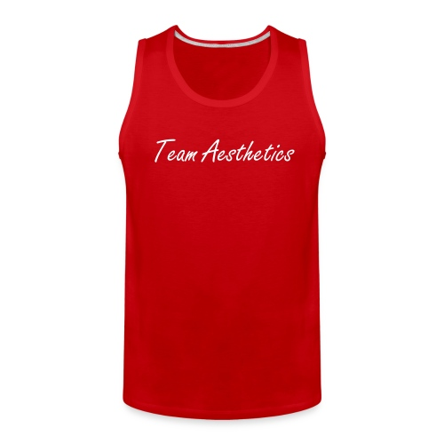 the Team Aesthetics Tank Fit (White) - Men's Premium Tank