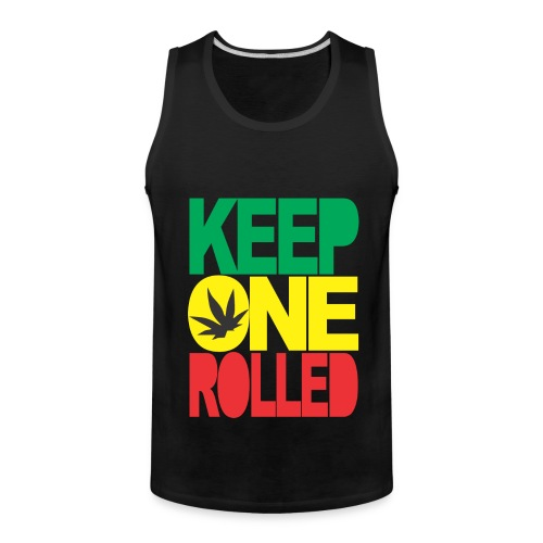 keep one rolled tank top - Men's Premium Tank