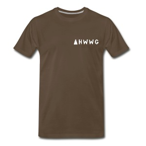 AHWWG White Logo Double Sided 2 - Men's Premium T-Shirt