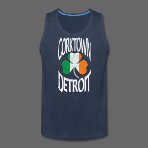 Corktown Detroit Shamrock Irish Flag - Men's Premium Tank