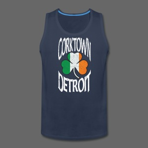 Corktown Detroit Shamrock Irish Flag - Men's Premium Tank