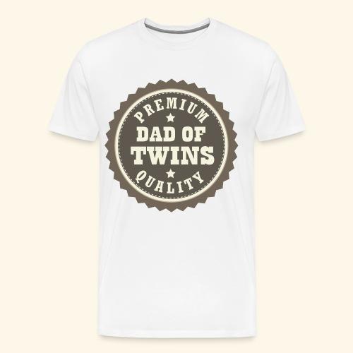 Dad of Twins Mens T-shirt (vintage) - Men's Premium T-Shirt