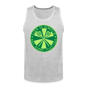 Life is Simple, Eat, Sleep, Play LAX Tank - Men's Premium Tank