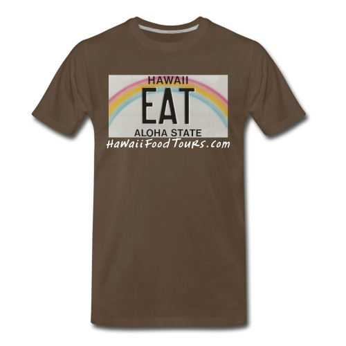 New_EAT_with_URL - Men's Premium T-Shirt