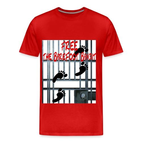 Free The Barefoot Bandit Short Sleeve T-shirt Red - Men's Premium T-Shirt